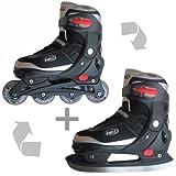 VIBES Inliner Skates mit Schlittschuhkufen Gr 32-35 - Mod.2012