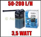 HAILEA RP-200 Innenfilter mit Aktivkohle-Box bis 100 L Filter Süß und Meerwasser