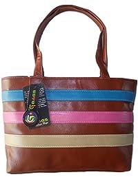 G Bags Women Stylish Handbag Fully Laminated (Modern Design), Multi-Coloured Gb22