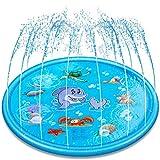 Groß Splash Pad, Durchmesser Sprinkler und Splash Spielmatte, Sommer Garten Wasserspielzeug für Baby, Kinder, Hund und Haustiere