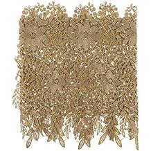 B Baosity Banda de Encaje de Flor Cinta Costura Encajes y Puntillas - Oro