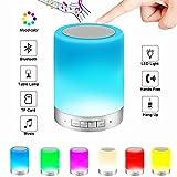 Aisuo 5 in 1 Nachtlicht - Multifunktionale Nachttischlampe mit Bluetooth 4.0 Lautsprecher, Touch Kontroler Design & Dimmbare Nachtlicht, Unterstüt SD-Karte und Aux Line, das Beste Geschenk für Kinder und Freunde.