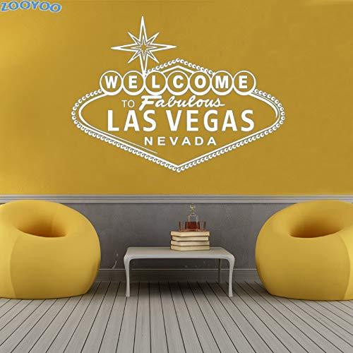 yiyiyaya Wandaufkleber Willkommen Zu Fabelhaften Las Vegas Wandtattoos Vinyl Charakter Kunst Dekorative Wandtattoo Für Wohnzimmer 79 * 59 cm