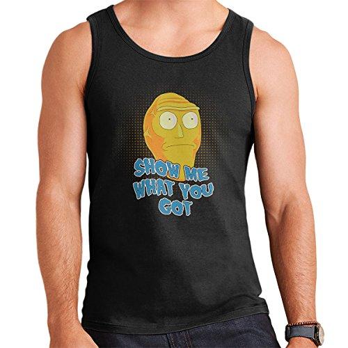 Rick And Morty Cromulons Show Me What You Got Men's Vest Black
