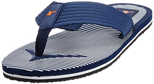 Sparx Men's Navy Blue Rubber Flip-Flops and House Slippers - 8 UK (SF2034G)