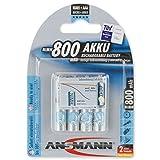 ANSMANN Micro AAA Akku 800mAh maxE geringe Selbstentladung NiMH vorgeladene Akkubatterie (4er Pack)