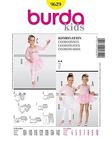 Burda 9629 Schnittmuster Body Ballettrock Leggings (kids, Gr. 104 -