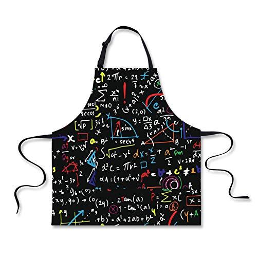 Math Mann Kostüm - Nopersonality Verstellbare Unisex-Lätzchen, für Erwachsene, Küche,