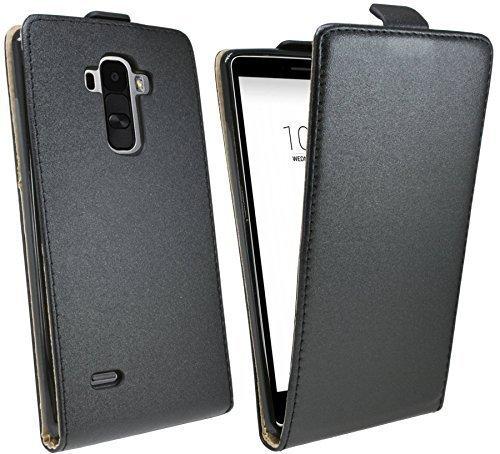 Handytasche Flip Style für LG G4 Stylus (H635) in Schwarz Klapptasche Hülle @ Energmix