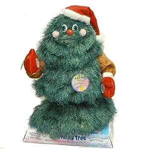 musical dancing singing santa father christmas tree