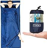 MIQIO® Hüttenschlafsack 2in1 mit durchgängigem Reißverschluss