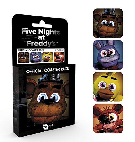 GB eye Ltd, Five Nights At Freddys, Characters, Coaster Pack, Cork, Various, 9.5 x 10 x 9.5 cm