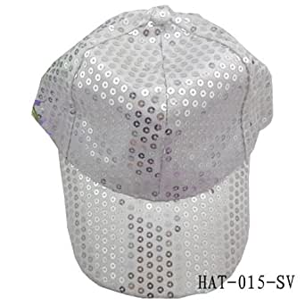 Fancyqube Unisex Sparkle Sequin Baseball Ball Cap Hip Hop Dance Show Party Hat Hat-015