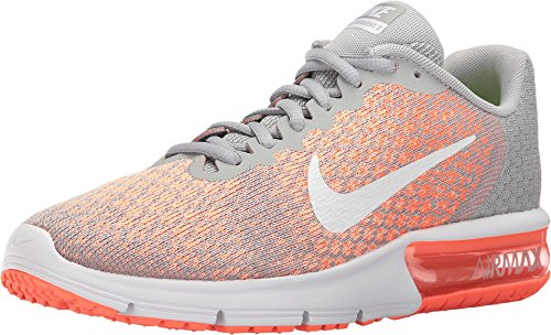 NIKE852461 116 - Nike Air MAX Sequent 2 Hombre, Gris (Grey/Orange/Red/White), 5,5 D(M) US