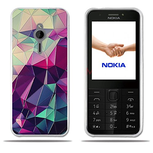 Nokia 230 Hülle, FUBAODA [Bunte Box] Transparente Silikon TPU Fashion Kreatives Design Anti-Scratch Smart Schutz Stilvolle Silikon Slim Fit Shockproof Flexibel für Nokia 230