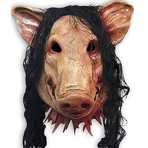 LIZHIOO Maske Halloween Maske Adult Latex Pferdekopf Maske Cosplay Vollgesichts Horror Tierkopf Maske Halloween Party Supplies Pferdemaske (Color : HM273 - Niedlich Billige Kostüm Frauen
