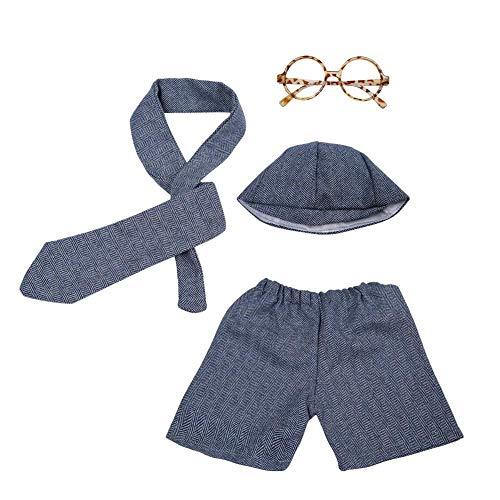 Set für Neugeborene, mit Hut, Krawatte, Hose, Brille und Foto-Requisiten für Jungen und Mädchen ()