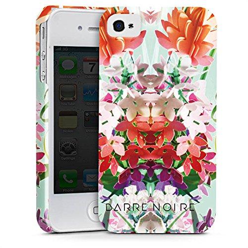 Apple iPhone X Silikon Hülle Case Schutzhülle Blumen Muster Flower Premium Case glänzend