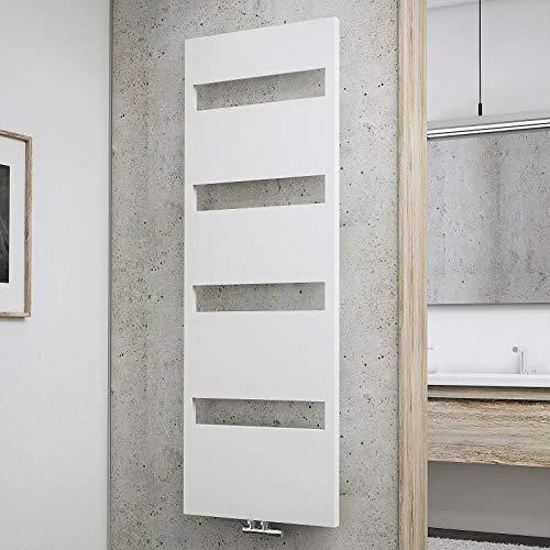 Schulte Bad-Heizkörper Turin, 170 x 60 cm, 620 Watt Leistung, Mittelanschluss und beidseitig von unten, alpin-weiß, Handtuchhalter-Funktion