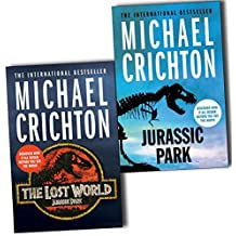 Michael Crichton Jurassic Park 2 Books Collection Pack Set RRP: £15.98 (Jurassic Park, The Lost World)