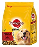 Pedigree Adult Hundefutter Rind und Gemüse, 3 Beutel (3 x 3 kg)