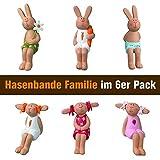 Räder Hasenbande - Mini Kantenhocker - Familie - 6er-Set