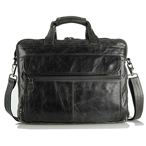 Everdoss Hommes sac à main en cuir sac de business sac à bandoulière sac de messager sac d'affaires sac d'ordinateur de grande capacité