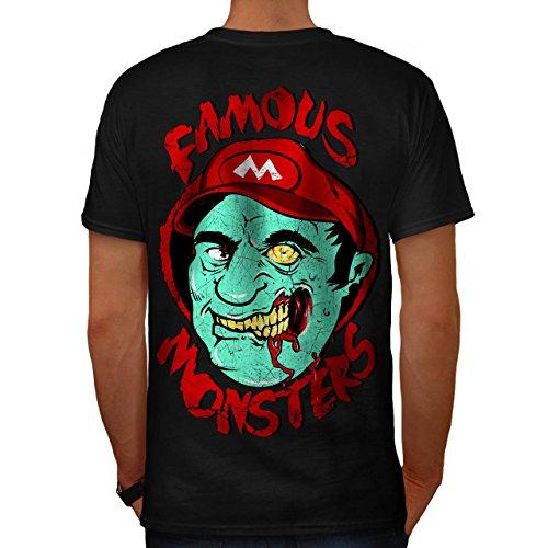 Mario Monster Tot Zombie Super Luigi Herren M T-shirt Zurück | (Kostüm Super Tot Mario)