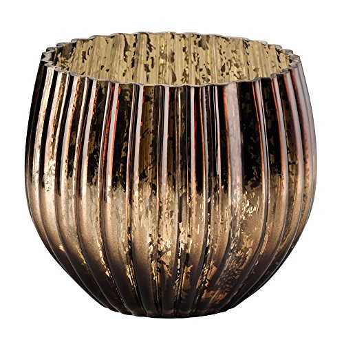 Hutschenreuther 02470-729560-48427 Lumière de Table Grande Porcelaine Brun 18,5 x 18,5 x 16,5 cm