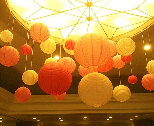 Decorazioni Con Lanterne Cinesi : Lanterne di carta rotonde di aishn paralume decorazione per