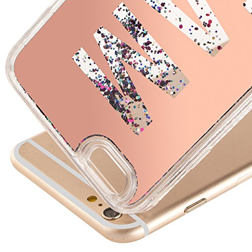 iPhone 7 Plus Case Transparent Glitzer Flüssig Hart Hülle,iPhone 7 Plus (Not für iPhone 7 4.7 Zoll) Hülle Crystal Clear Glitzer Liquid Hard Case,EMAXELERS iPhone 7 Plus Hülle für Mädchen,iPhone 7 Plus P Mirror Liquid 1