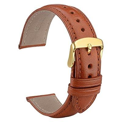 wocci reloj bandas 18mm 20mm 22mm piel de vaca auténtica correa para reloj de repuesto pulsera para hombres mujeres