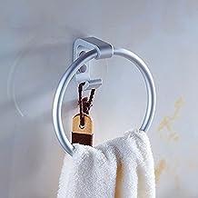 B & Y spazzolato in lega di alluminio Anello porta asciugamani per bagno a schermo piatto