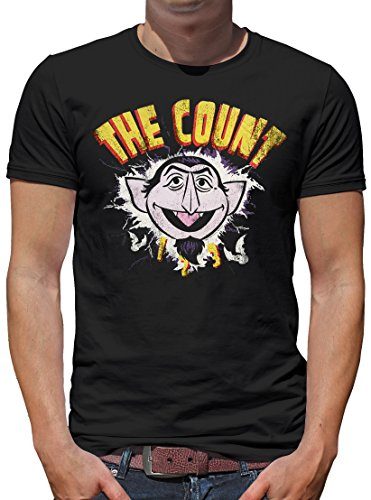 Touchlines Merchandise TLM Sesamstraße - The Count Lightning GRAF Zahl T-Shirt Herren Black