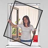 proheim Insektenschutz-Fenster Comfort 120 x 150 cm in Anthrazit Fliegengitter mit Alu-Rahmen sind...