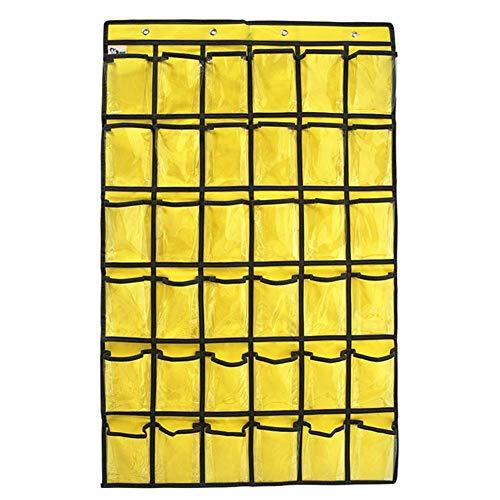 YBXMMZ 36 Taschen Schmuck hängende Aufbewahrungstasche Charts Kinder Karten Finishing Bag Handy Taschen Lehrer Klassenzimmer Wand Klar Halter und Handy Halter Klassenzimmer 36 Hängetaschen Organizer