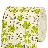 Geschenke 24: Toilettenpapier – Glück (2 Rollen) : witziges Motiv-Toilettenpapier mit Hufeisen und Glücksklee