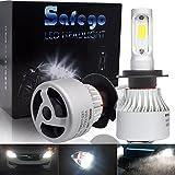 Safego H7 Faro Bombillas Alquiler de luces LED 60W 8000LM brillante estupendo de la lámpara con la viruta del COB para el coche vehículo Car Auto Llevado conduciendo la Luz de Niebla NO CANBUS