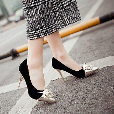 Moda Donna Sandali Sexy donna tacchi Primavera / Estate / Autunno tacchi PU Esterni / Ufficio & Carriera / Casual Stiletto Heel altri nero / rosa / Black