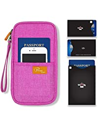 Couverture de portefeuille Passeport / Voyage sac d'embrayage / Carte de crédit de trésorerie organisateur / Porte-passeport avec dragonne