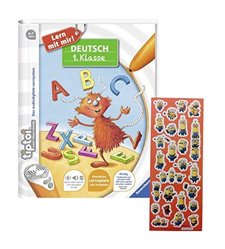Preisvergleich Produktbild Ravensburger ® tiptoi Buch - Lern mit mir! Deutsch 1. Klasser + Minions-Sticker