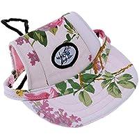 ZoPhor (TM) 4colori moda cane visiera tessuto traspirante cappello da baseball cappello gatto Super Cute Sun-shading Cap con orecchio fori Pet prodotti, White, small