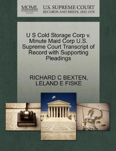 u-s-cold-storage-corp-v-minute-maid-corp-us-supreme-court-transcript-of-record-with-supporting-plead