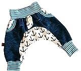 Atelier MiaMia - Pumphose Baby Kind Schnellkauf ! Designer Babyhose Limitiert !! blau Anker (56)
