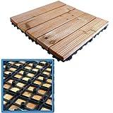 18x Holzterrassen zusammensteckbar Fliesen Garten Decks Platte 30cm SQ Deck Tile