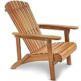 VonHaus Adirondack-Gartensessel / Adirondack Chair - geöltes Akazien-Hartholz – Holzstuhl für Garten & Terrasse