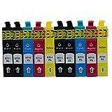 Generisch Kompatible Tintenpatronen Ersatz für Epson E-0711 T0711 T0712 T0713 T0714 T0715 Hohe Kapazität Tintenpatronen Kompatibel für Epson Stylus SX218 SX515W SX400 SX200 D78 D92 D120 DX4000 DX4050 DX4400 DX4450 DX6050 DX7000F DX7400 DX8400 SX115 SX205 SX209 SX210 SX215 SX405 SX405WiFi SX510W BX600FW Tintenpatronen für Inkjet Drucker (4 Schwarz,2 Cyan,2 Magenta, 2 Gelb)