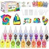 Gifort Tie Dye Kit, Textiles de Tela Colores Vibrantes Pinturas Ropa Tinte Graffiti para Proyectos de Bricolaje y Actividades