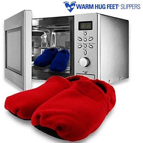Albiris-Zapatillas-microondas-warm-hug-feet-rojo