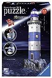Ce superbe puzzle représente un phare rayé bleu et blanc. Cette édition est spéciale puisque le phare, très réaliste, s'éclaire la nuit grce à 2 LED incluses qui vont prévenir les bateaux. Ce puzzle architecture représente un phare la nuit. Ce puzzle...